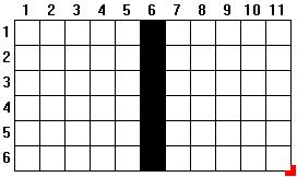 6x11 Grid, Less Center Column
